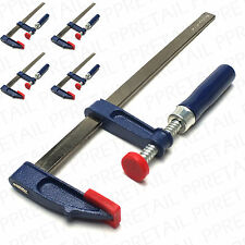 SET OF 4 F CLAMPS 250x50mm Quick Sliding Steel Bar Table Grip Woodwork G/Vice