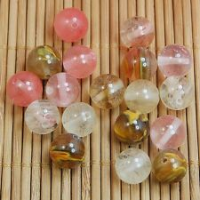 Wholesale Natural Gemstone Round Spacer Beads DIY Jewelry Making 10mm