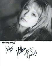 Hilary Duff Lizzie McGuire autographed 8x10 photo with COA by CHA