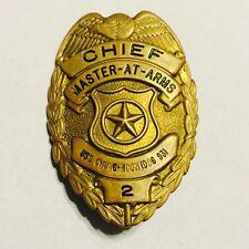 Obsolete Hawaii Navy USS Chung-Hoon DDG 931 (HMK) Chief MAA Police Badge