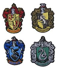 Harry Potter Set of 4 House Crests Embroidered Patches Officially Licensed