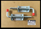 2 X Spring Bolt Z/P 10mm X 145mm For Trailer Horsebox Lorry Shed Gate Tailgate