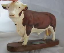 Beswick Connoisseur Model - Hereford Bull - Model: A2542A DAMAGE to LEG & HORN