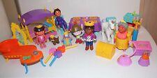 Huge Lot - Dora The Explorer Dollhouse Castle Dolls & Furniture