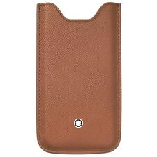 $245 MONTBLANC BROWN APPLE iPHONE 5 5S PHONE HOLDER CASE LEATHER SMARTPHONE
