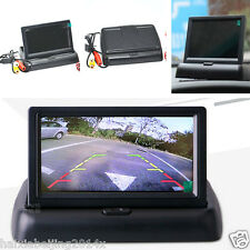 "4.3"" Foldable Digital HD LCD Color Monitor Screen Car Reverse Rearview Camera"