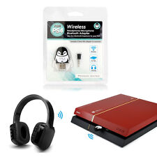 Bluetooth Wireless Headset Headphone Adapter with Mic for PS4 Sony Playstat