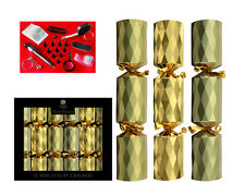 "6 x 8 ""MINI LUSSO TOM SMITH Albero di natale christmas cracker ORO NATALE Cracker"