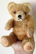 Small Antique Vintage HERMANN Teddy Bear Mohair Fully Jointed W/Tag Excelsior NR