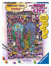 Ravensburger 28884-Rizzi: it 's Heart not to Love My City, pintar por números