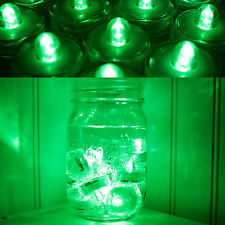 10  GREEN SUPER Bright LED Tea Light Submersible Floralyte for Party Wedding