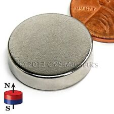 "Neodymium Magnets N42 Dia 3/4x3/16"" NdFeB Rare Earth Magnet Lot 20"