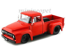 JADA BIGTIME 90484 1956 56 FORD F-100 PICK UP TRUCK 1/24 DIECAST RED