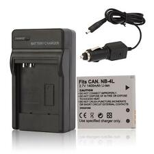 NB-4L Battery+Charger for Canon PowerShot ELPH SD400 SD430 SD450 SD600