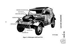 Volkswagen VW Kübelwagen vehicle 'Jeep' manual 4x4 WW2 1940's rare