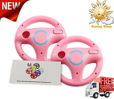 Mario Kart Racing Wheels for Wii 2 Pieces for Racing Games Pink New