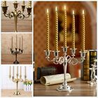 Silver Plated Candle Holder 5/3-Arm Wedding Party+ 5/3Free Candles Candelabra