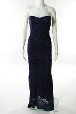 Nicole Miller Violet Lace Strapless Living A Dream Gown Size 4 New $995 10170343