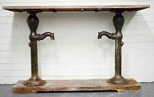 Reclaimed Timber Console/ Hall Table Industrial Metal Vintage Water Pump