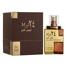 24 Carat Pure Gold By Lattafa Perfumes 100 ml Oriental Vanilla Saffron Oud New
