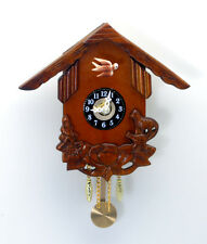 Brand New Mini Palm Size Carved Timber Wooden Cuckoo Clock w45 0.5k