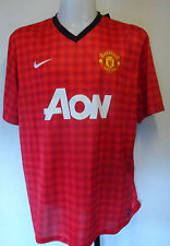 MANCHESTER UNITED 2012/13 BOYS HOME SHIRT BY NIKE SIZE LARGE BOYS BNWT