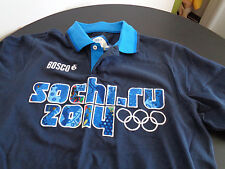 BOSCO Sochi Olympics 2014 Polo Shirt Navy Blue Size Small SOCHI.RU Free Shipping