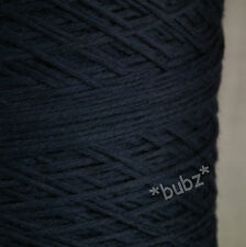 GORGEOUS SOFT 4 PLY ITALIAN PURE MERINO WOOL NAVY BLUE 500g CONE 10 BALL DK YARN