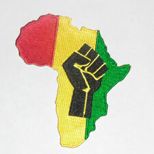 """RASTA AFRICAN FIST Embroidered iron-on Patch 3 7/8"""""""