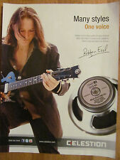 Robben Ford, Full Page Promotional Ad, Celestion Speakers