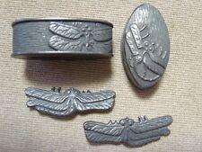 Dragonfly Menuki Fuchi-Kashira For Japanese sword (tsuba-ito-habaki-seppa)