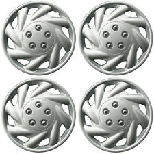 "4 Piece SET Hub Caps ABS Silver 15"" Inch for OEM Steel Wheel Cover Cap Covers"