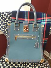 AUTHENTIC Louis Vuitton Suhali L' Imprevisible Purse Bag Blue Tote Le Fabuleux