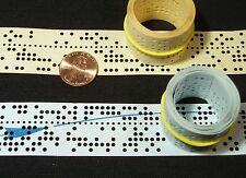 10 Feet of Rare Computer Punched Paper Tape, 50 Years Old, Two Colors, Vintage