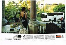 Publicité Advertising 1989 (2 pages) Bus Autocar Fr1 GTX Renault