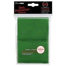 100 DECK PROTECTORS Standard Green Verde MTG MAGIC Ultra Pro