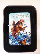 69501 Ed Hardy Gasfeuerzeug mit Jetflame KOI FISH