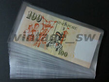 BANKNOTE PLASTIC SLEEVE 178MM X 89MM X 100 PIECES