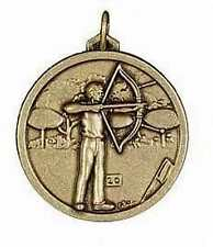 HIGH QUALITY SOLID ARCHERY TROPHY MEDAL 56mm GOLD OR SILVER C360