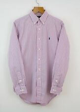 "Vintage RALPH LAUREN Classic Fit Pink Shirt | Retro Sport Polo | 15"" Medium M"