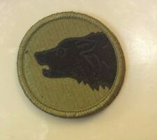 ARMY PATCH, 104TH INFANTRY DIVISION, MULTI CAM, SCORPION,W/HOOK TAPE FASTENER