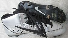 Men's Nike Speedlax IV TD Mid Lacrosse Cleats Chrome/Black 616297-001 SZ 9 EUC
