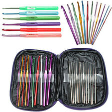 22 Agujas de Crochet Aluminio para Ganchillo Knitting Needles Crochet hook bolsa