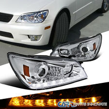 2001-2005 Lexus IS300 Chrome LED DRL+Signal Strip Projector Headlights Pair