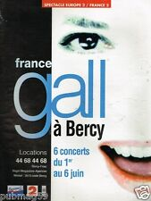 Publicité advertising 1993 Concert France Gall à Bercy