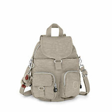 BNWT Kipling  Firefly N Small Backpack WARM GREY (Beige) RRP £74