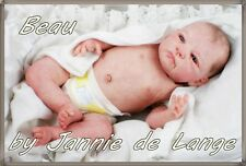 "Baby  Reborn Cute BOY 20"" BEAU by JANNIE DE LANGE ultra reality!"