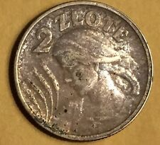 1924 Poland Polish 2 Two Zlote Zloty Coin : High Grade All Original Not Cleaned