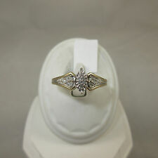 10K Yellow Gold Ring With 14=.14ct Diamonds Size 9
