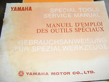 YAMAHA SPECIAL TOOLS SERVICE MANUAL (CONTENTS LISTED)